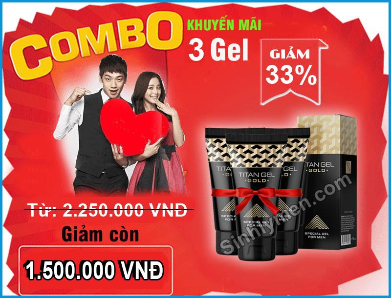 Combo Khuyen Mai 3 Titan Gel Gold