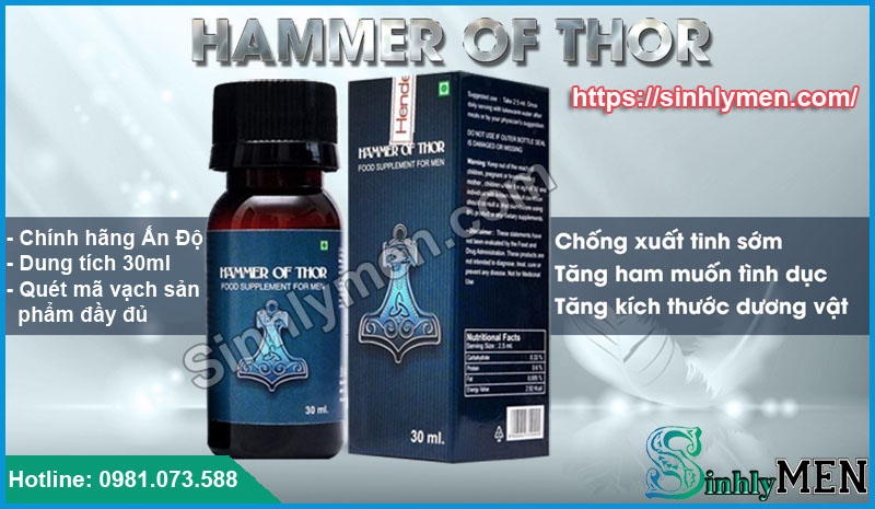 Giọt Dưỡng Chất Hammer Of Thor Hiệu Quả